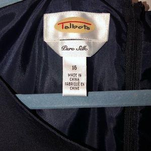 Talbots Dresses - Talbots Navy Blue Silk Dress Sz 16